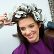 Woman in hair salon — Foto de Stock