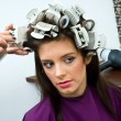 Woman in hair salon - Stock Photo