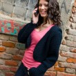 Teen girl with mobile phone — Stockfoto