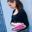 Teen girl with books — Stock Photo