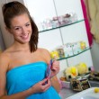 Teen girl in bathroom — Stock Photo #22734047
