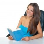 Girl reading book — Stock Photo #22736819