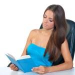 Girl reading book — Stock Photo #22736887
