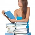 Teen girl reading book — Stock Photo #22737719