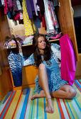 Choosing clothes — Stock Photo