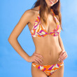 Girl in swimsuit smiling — Stock Photo #24467679