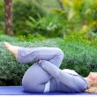Stock Photo: Mature womin yogposition