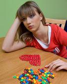 Teen girl in love — Stock Photo