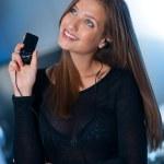 Teen girl listen music — Stock Photo #25389451
