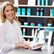 Woman in reception desk — Stock Photo