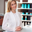 Attractive woman receptionist — Stock Photo #25384383