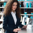 Attractive woman receptionist — Stock Photo