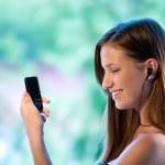 Teen girl listen music — Stock Photo #25389331