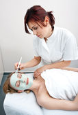 Woman in spa treatment — Stock Photo