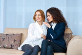 Woman friends at home — Stock Photo