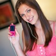 Teen girl listen music — Stock Photo #25391327