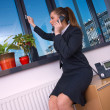 Stock Photo: Business woman with phone