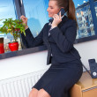 Business woman with phone — Stock Photo #25399191
