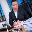 Business woman working — Foto de Stock