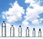 Different water bottles — Stock Photo