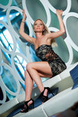 Blond woman posing — Stock Photo