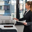 Stockfoto: Business womworking on printer