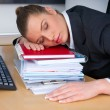 Business woman sleeping — Stock Photo