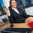 Business woman in office - Foto Stock