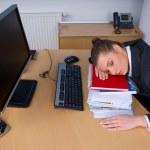 Business woman sleeping — Stock Photo #25400661