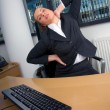 Business woman stretching — Stock Photo #25400785