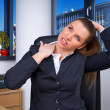 Business woman with neck pain — Stock Photo #25400869
