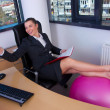 zakenvrouw in office — Stockfoto