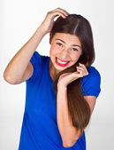 Teen girl with funny expression — Stock Photo