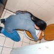 Woman throwing up in the toilet — Stock Photo #25981845