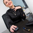Stock Photo: Businesswoman at desk