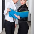 Two woman in office — Stockfoto