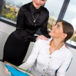 Stock Photo: Two businesswoman