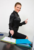 Businesswoman with documents — Stock Photo