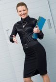 Businesswoman offering handshake — Stock Photo