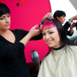 Hair stylist at work — Stock Photo #26060325