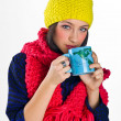 Stock Photo: Teen girl with tecup