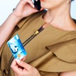 Woman with credit card and mobile phone — Stock Photo #26310723