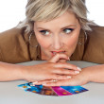 femme avec cartes de crédit — Photo