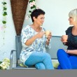 Woman firends chatting — Stock Photo