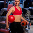 Foto Stock: Woman in gym