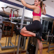 Woman in gym — Foto de Stock