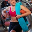 Woman in gym — Stockfoto