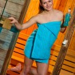 Attractive woman in sauna — Stock Photo #26332041
