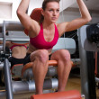 Woman workout in gym — Stock Photo