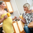 Pregnant woman with her sister — Stock Photo #26339365
